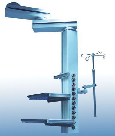 Ceiling-mounted medical pendant / articulated / with column MPP135D/S Johnson Medical