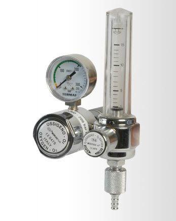 Oxygen flowmeter / variable-area / with pressure regulator DZ Medicale