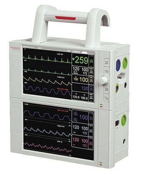 Compact multi-parameter monitor / transport PRIZM 7 Charmcare