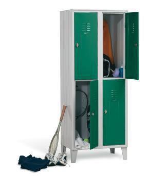 Locker room cabinet / for healthcare facilities / with hinged door / 4-door Doimo Mis srl