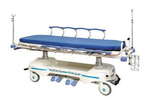 Transport stretcher trolley / X-ray transparent / height-adjustable / electrical Chevalier Series Chang Gung Medical Technology