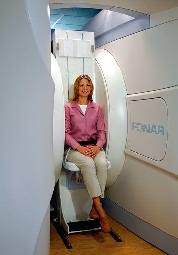MRI system (tomography) / full body tomography / medium-field / open FONAR Upright™ 0.6T Tecserena