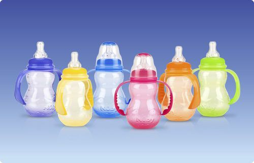 Baby bottle without bisphenol A / polypropylene Non-Drip™ Nuby