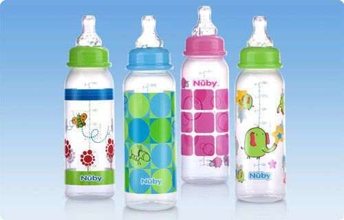 Baby bottle without bisphenol A / polypropylene Decorated Non-Drip™ Nuby