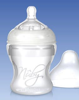 Baby bottle silicone / without bisphenol A SoftFlex™ Nuby