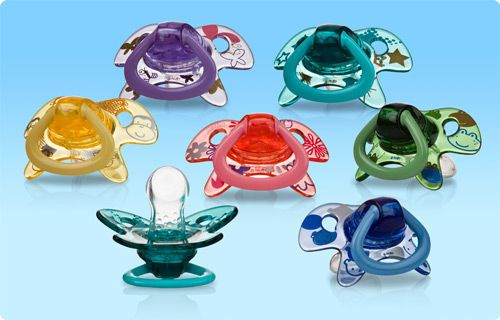 Anatomical infant pacifier / silicone Nuby