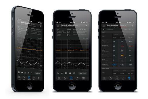 Vital sign telemonitoring iOS application AirStrip ONE™ AirStrip Technologies AirStrip Technologies