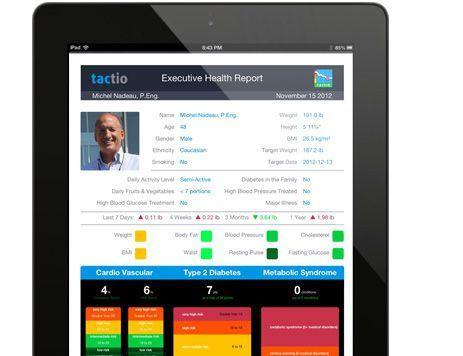 Vital sign telemonitoring iOS application Tactio Health Group