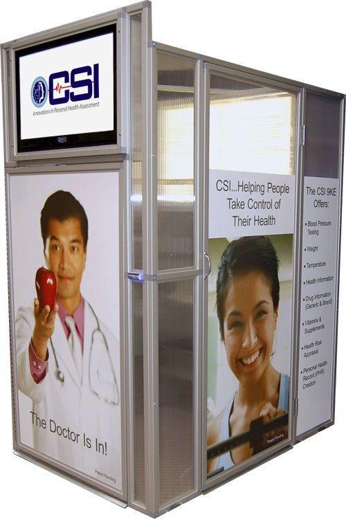 Telemedicine booth (for vital signs telemonitoring) 9KE CSI Computerized Screening
