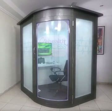 Telemedicine booth (for teleconsultation and vital signs telemonitoring) Medical Kiosk e Health Access
