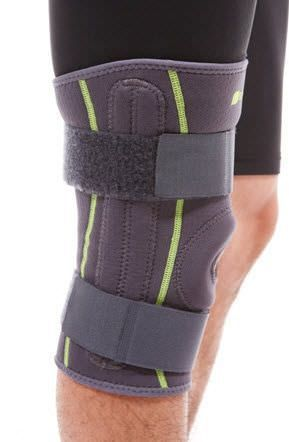 Knee orthosis (orthopedic immobilization) / with flexible stays / with patellar buttress / open knee SQ1-L007 Senteq