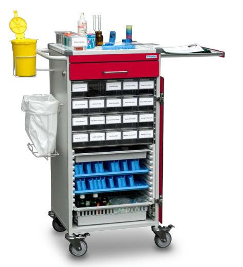 Medicine distribution trolley / 15 to 24 container B10.047 Wiegand