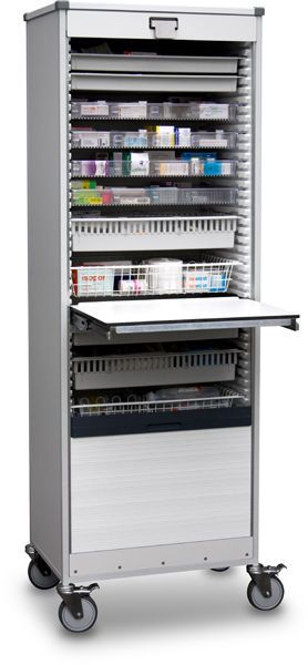 Medical cabinet / storage / for healthcare facilities / on casters B10.051 Wiegand