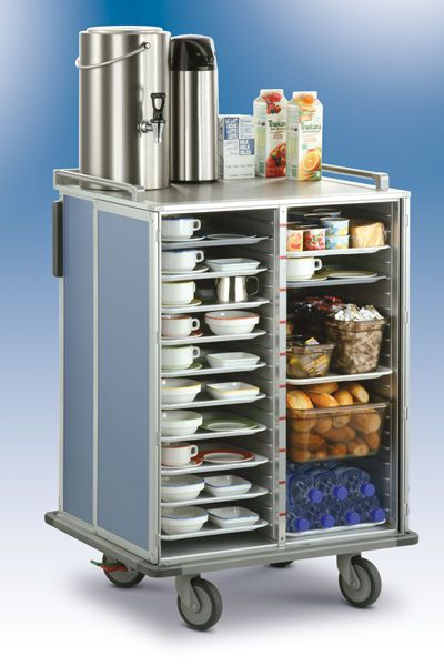 Distribution trolley / meal / with hinged door / closed-structure SERVIZIO Socamel Technologies