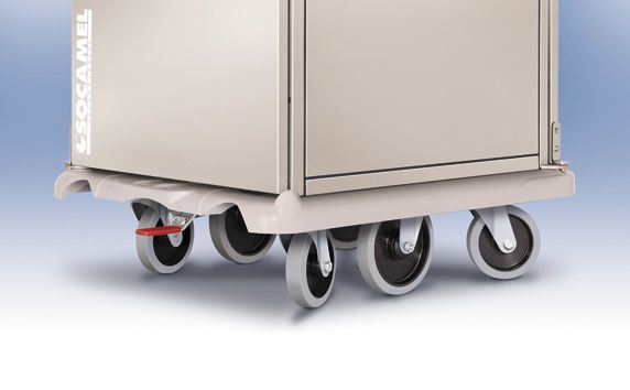 Distribution trolley / meal / with hinged door / closed-structure ERGOSERV Socamel Technologies