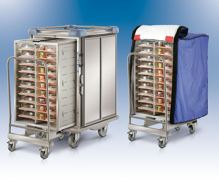 Distribution trolley / meal / with hinged door / closed-structure ERGOSERT / INSERT Socamel Technologies
