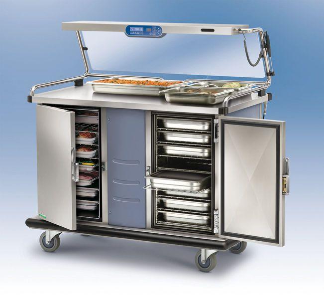 Banquet trolley / refrigerated / warming MULTISERV Socamel Technologies