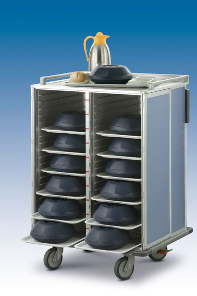 Distribution trolley / meal / with hinged door / closed-structure Socamel Technologies