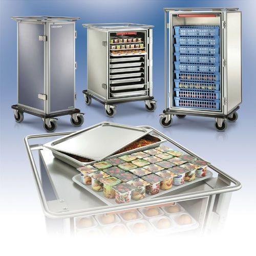 Distribution trolley / meal / with hinged door / closed-structure SERVITHERM Socamel Technologies
