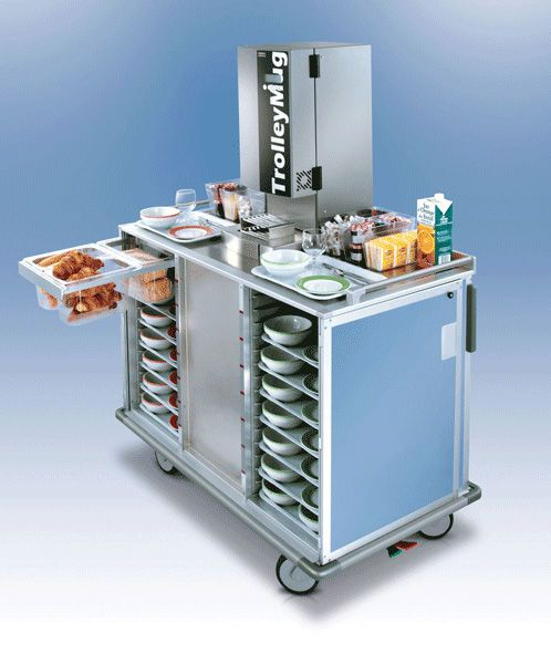 Distribution trolley / meal / with hinged door / closed-structure SERVIZIO CAFÉ Socamel Technologies