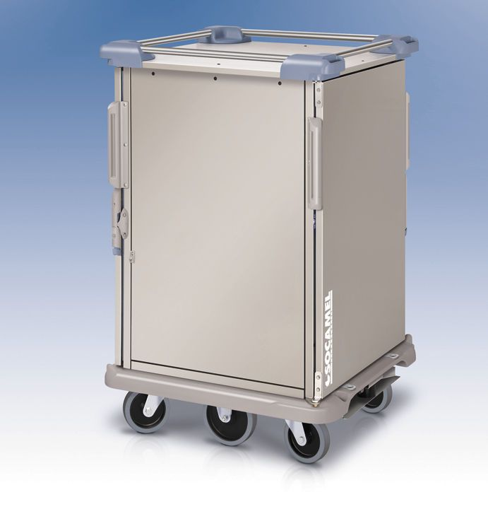 Distribution trolley / meal / with hinged door / closed-structure DOUBLE FLOW / ERGOSERV Socamel Technologies