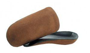 Orthopedic insoles with heel pad Cork-Leather Mile High Orthotics Labs