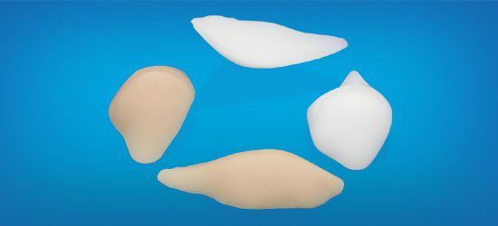 Malar cosmetic implant / anatomical / silicone P1 Wanhe Plastic Material