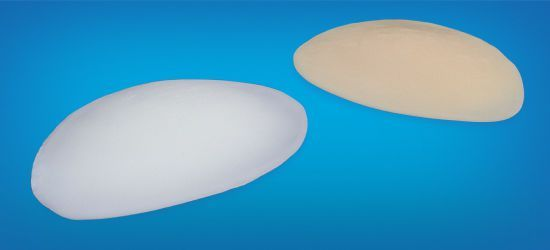 Temporal cosmetic implant / oval / silicone P3 Wanhe Plastic Material