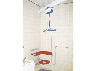 Ceiling-mounted patient lift V4 aacurat gmbh