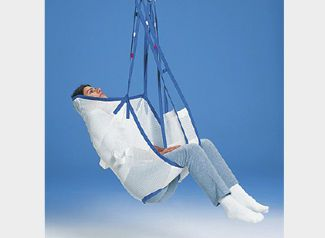 Patient lift sling / bariatric / with head support HKN aacurat gmbh