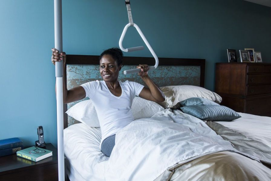 Bed grab bar / ceiling-mounted SuperTrapeze HealthCraft Product Inc