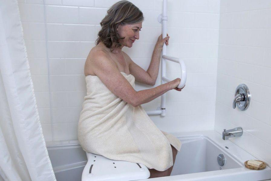 Bathroom grab bar / wall-mounted / folding Dependa-Bar HealthCraft Product Inc