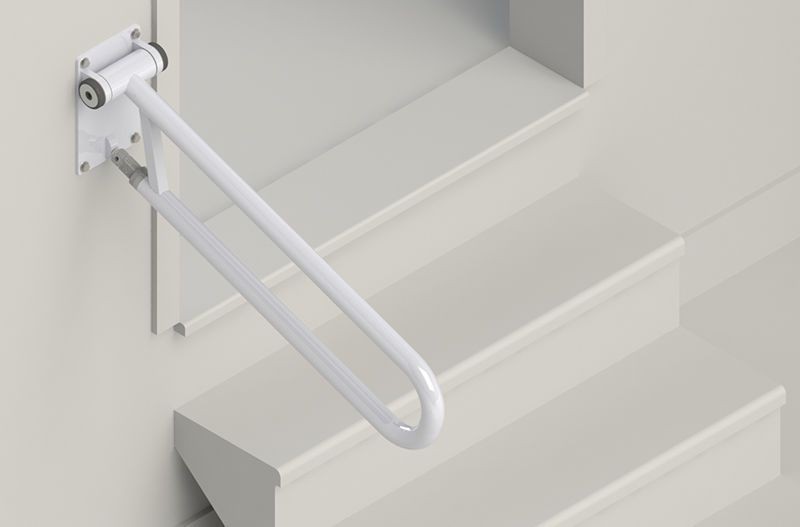 Wall-mounted grab bar PT Rail Angled HealthCraft Product Inc