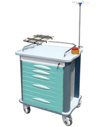 Emergency trolley / with defibrillator shelf / with IV pole ET-82021B Nanjing Joncn Science & technology Co.,Ltd