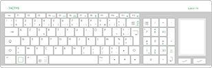 Disinfectable medical keyboard / glass / with touchpad SLIM 811 TACTYS