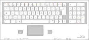 USB medical keyboard / glass / with touchpad TH 807 TACTYS