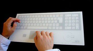Wireless medical keyboard / glass / with touchpad TW 908 TACTYS