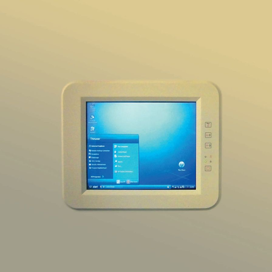 Medical display / disinfectable / waterproof / touch screen CETI TACTYS