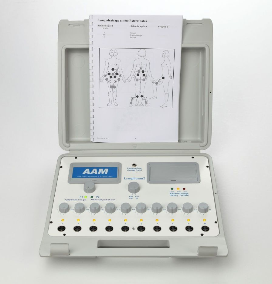 Pressure therapy unit (physiotherapy) / 10 independent cells DE 30 H AAM