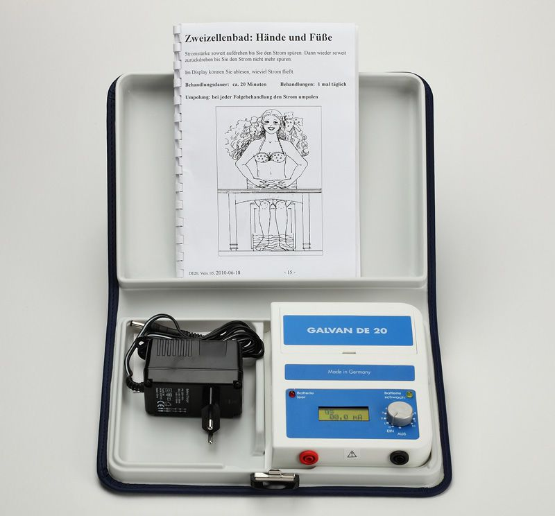 Iontophoresis unit (physiotherapy) / 1-channel Galvan DE 20 AAM