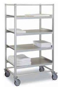 Mobile shelving unit / 4-shelf Antares ARIANEL GROUPE ASCOLIA