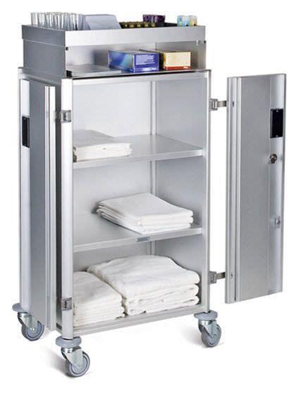 Clean linen trolley / 2-door / with shelf VEGA ARIANEL GROUPE ASCOLIA