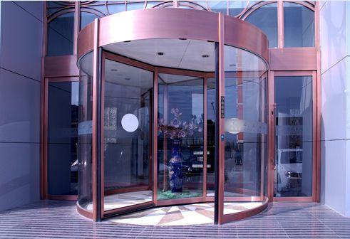 Hospital door / automatic / drum / with glass panel Victordoor