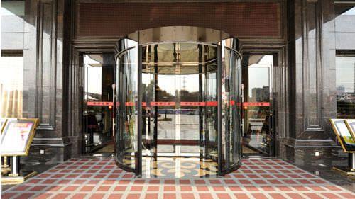 Hospital door / automatic / drum / with glass panel VC-TW-36 Victordoor