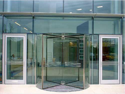 Hospital door / drum / stainless steel / with glass panel Crystal Victordoor