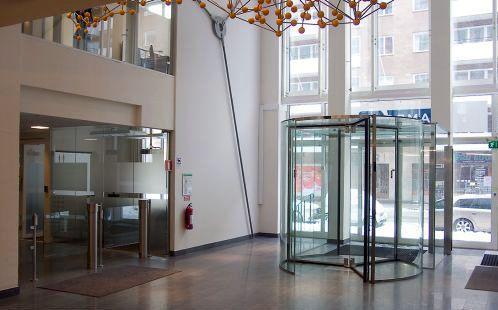Hospital door / drum / automatic / with glass panel Crystal Victordoor