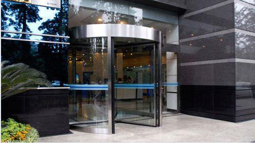 Hospital door / drum / automatic / with glass panel VC-THW-24 Victordoor