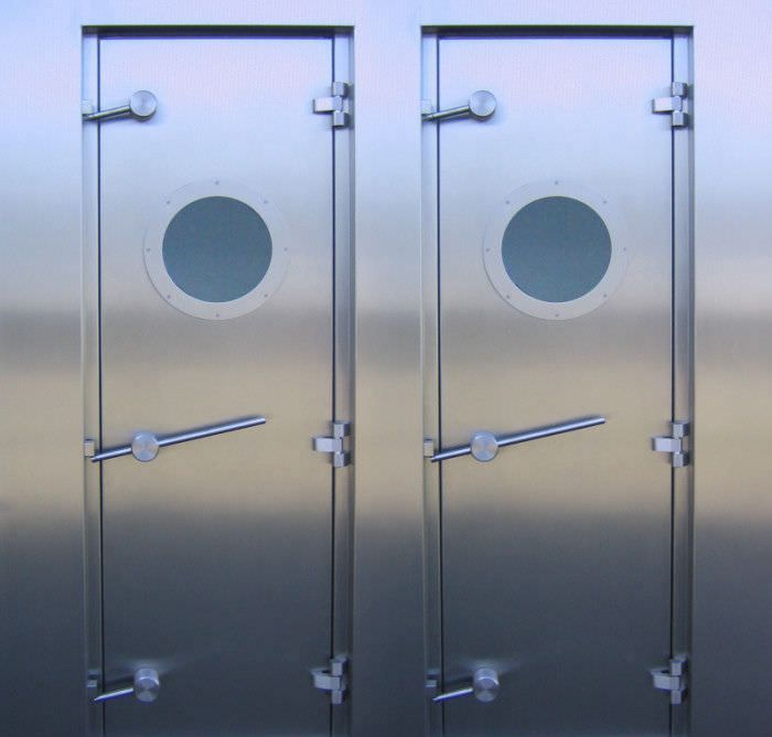 Hospital door / laboratory / swinging / hermetic EMV