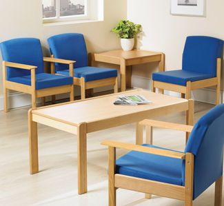 Waiting room armchair Campus T72 Teal