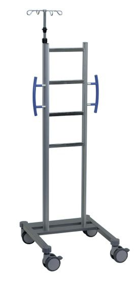 4-hook IV pole / telescopic / on casters Caddy Move Arcomed AG, Medical Systems